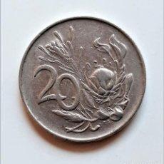 Monedas antiguas de África: SOUTH AFRICA 20 CENTS 1971. Lote 214592578