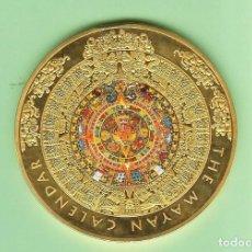 Monedas antiguas de África: MONEDA CONMEMORATIVA BRITÁNICA-EL CALENDARIO MAYA 2012 70 MM DE DIAMETRO.118 GRAMOS. Lote 214953131