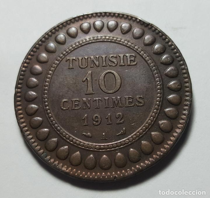 10 CÉNTIMES TÚNEZ 1912 (Numismática - Extranjeras - África)