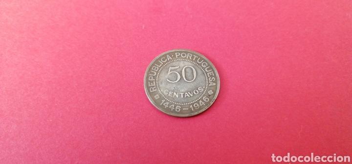 Monedas antiguas de África: 50 centavos de Guinea 1946. Conmemorativa - Foto 2 - 217911068