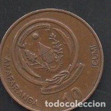Monedas antiguas de África: RUANDA, 10 FRANCOS 2009, ESCASA, BC. Lote 217920688