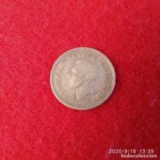 Monedas antiguas de África: MONEDA DE PLATA DE SUD ÁFRICA, GEORGE VI, DE 3 PENCE DE 1937, BUEN EJEMPLAR , VER FOTOS.. Lote 218200956
