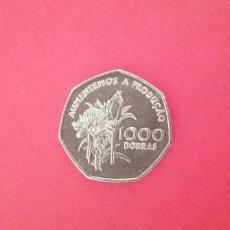 Monedas antiguas de África: 1000 DOBRAS DE SANTO TOMÉ Y PRÍNCIPE 1997. FAO. Lote 219265613