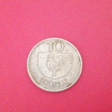 Monedas antiguas de África: 10 EKUELE GUINEA ECUATORIAL 1975. Lote 219266753