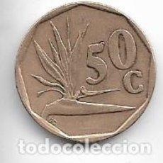 Moedas antigas de África: SUDAFRICA,50 CENTS 1995.. Lote 219336312
