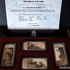 Monedas antiguas de África: LIBERIA 2010. 2 JUEGOS DE 4 LINGOTES DE PLATA EN COLOR CADA UNO. Lote 219418453