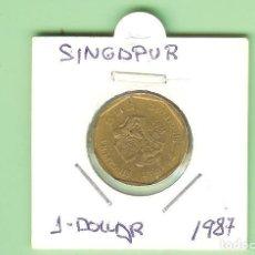 Monedas antiguas de África: SINGAPUR. 1 DOLLAR 1987. BRONCE-ALUMINIO. KM#54.B. Lote 234659165