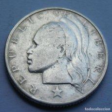 Monedas antiguas de África: LIBERIA 25 CENTS 1960 PLATA. Lote 220725450