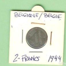 Monedas antiguas de África: BELGIQUE/BELGIE 2 FRANC 1944. ACERO BAÑADO EN ZINC. KM#133. Lote 221397087