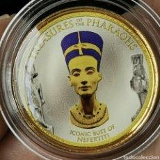 Monedas antiguas de África: 01A4. CONMEMORATIVA 'TREASURES OF PHARAONS' BAÑO ORO 24KT. EGIPTO. ACUÑADA EN 1 POUND 2008. Lote 221911182