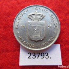 Monedas antiguas de África: CONGO BELGA , RUANDA URUNDI 1 FRANCO 1958 , ( RWANDA BURUNDI ). Lote 221912513