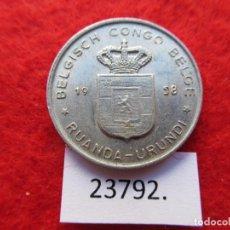 Monedas antiguas de África: CONGO BELGA , RUANDA URUNDI 1 FRANCO 1958 , ( RWANDA BURUNDI ). Lote 221912545