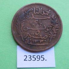 Monedas antiguas de África: TUNEZ 5 CÉNTIMOS 1912 A. Lote 221912655
