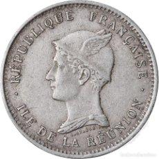 Monedas antiguas de África: MONEDA, LA REUNIÓN, 50 CENTIMES, 1896, MBC, COBRE - NÍQUEL, KM:4. Lote 221917572