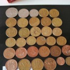 Monedas antiguas de África: LOTE DE 33 MONEDAS DE SUDAFRICA. Lote 221925030