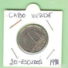 Monedas antiguas de África: CABO VERDE. 20 ESCUDOS 1994. NOVAS DE ALEGRIA. ACERO-NIQUEL KM#42. Lote 221965917