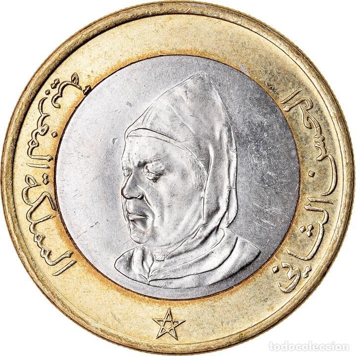 MONEDA, MARRUECOS, AL-HASSAN II, 10 DIRHAMS, 1995, MBC, BIMETÁLICO, KM:92 (Numismática - Extranjeras - África)