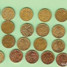 Monedas antiguas de África: SUDAFRICA 21 MONEDAS DE 10 CENT, 23 FECHAS, 11 MODELOS. Lote 222154778