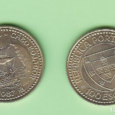 Monedas antiguas de África: PORTUGAL. 100 ESCUDOS 1987. GIL EANES. CUPRONÍQUEL. KM#639. Lote 222255243
