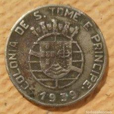 Monedas antiguas de África: SANTO TOMÉ Y PRÍNCIPE. 1939. 1 ESCUDO CUPRONÍQUEL. COLONIA PORTUGUESA. Lote 222267132