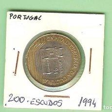 Monedas antiguas de África: PORTUGAL. 200 ESCUDOS 1994. LISBOA. BIMETÁLICA KM#669. Lote 222292042
