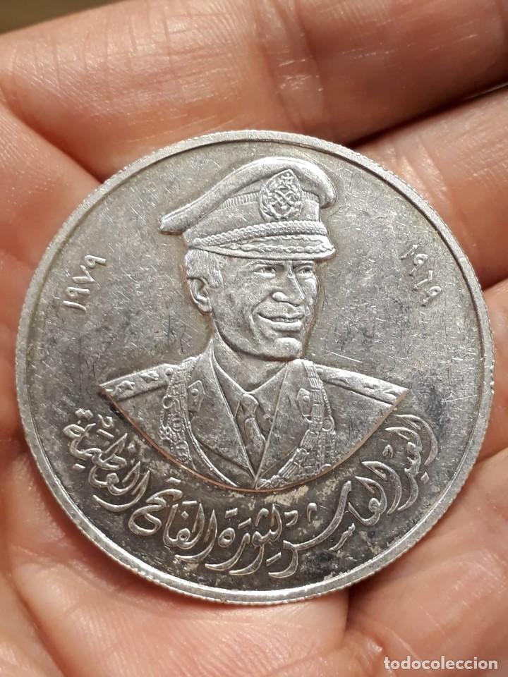 MONEDA DE MUAMMAR GADAFI.DE PLATA (Numismática - Extranjeras - África)