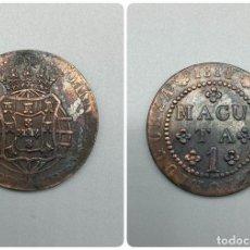 Monedas antiguas de África: MONEDA. ANGOLA. 1 MACUTA. JUAN PRINCIPE. 1814. VER FOTOS. Lote 223468642