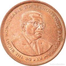 Monedas antiguas de África: MONEDA, MAURICIO, 5 CENTS, 2005, EBC, COBRE CHAPADO EN ACERO, KM:52. Lote 227446190