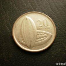Monete antiche di Africa: GANA 20 PESEWAS 2007. Lote 231541005