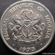 Monnaies anciennes d'Afrique: NIGERIA, 10 KOBO 1973. Lote 232264520
