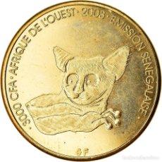 Monete antiche di Africa: MONEDA, SENEGAL, 3000 CFA FRANCS-2 AFRICA, 2003, GALAGO, SC, LATÓN, KM:11. Lote 233060400