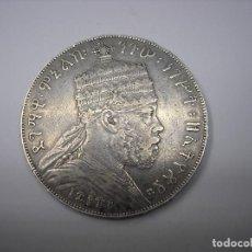 Monedas antiguas de África: ETIOPIA, 1 BIRR DE PLATA DE 1889. REY MENELIK II. 1844-1913. Lote 233292255