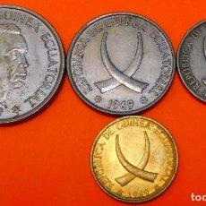 Monnaies anciennes d'Afrique: GUINEA ECUATORIAL, JUEGO DE 1-5-25 Y 50 PESETAS, 1969. (647). Lote 233988020