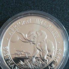 Monedas antiguas de África: MONEDA 100 SHILLINGS SOMALI ELEFANTES 2016 PLATA 999 1 OZ. Lote 234885405