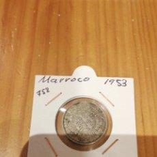 Monedas antiguas de África: MONEDA DE PLATA DE MARRUECOS DE 1953. Lote 235300240