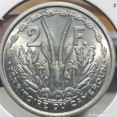 Monedas antiguas de África: CAMERÚN CAMEROON KM9 2 FRANCOS 1949 UNC SC COLONIAL FRANCESA. Lote 235683700