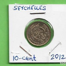 Monedas antiguas de África: SEYCHELLES. 10 CENT 2012 ACERO BAÑADO EN LATÓN. KM#48.A. Lote 235810895