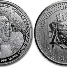 Monedas antiguas de África: MONEDA 5000 FRANCS CFA CONGO 2017 PLATA 999, 1 OZ (31,10GR) SIN ABRIR. Lote 235869570