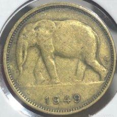 Monedas antiguas de África: CONGO BELGA KM26. 1 FRANCO 1926 ELEFANTE MONEDA COLONIAL BÉLGICA. Lote 235926620