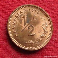 Monete antiche di Africa: RHODESIA 1/2 CENT 1970 RODESIA. Lote 237581360