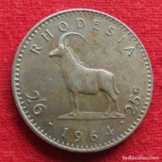 Monete antiche di Africa: RHODESIA 25 CENT 1964 RODESIA. Lote 237582705