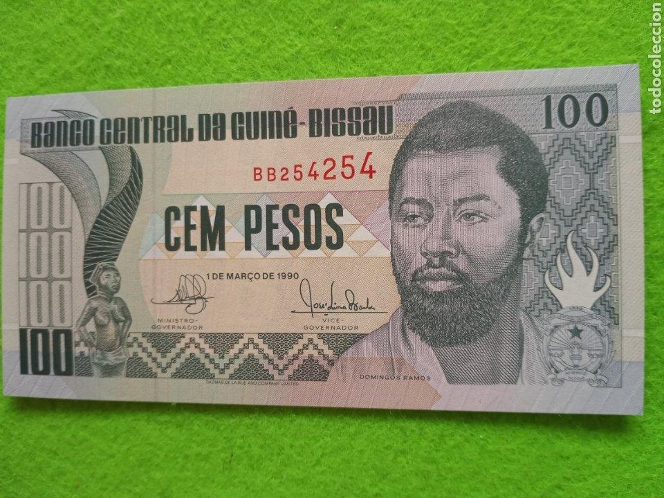 100 PESOS DE GUINEA ECUATORIAL.1990. SC. BILLETES DEL MUNDO (Numismática - Extranjeras - África)