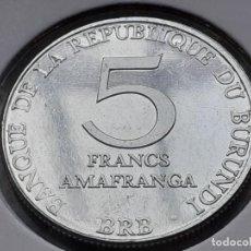 Moedas antigas de África: BURUNDI 5 FRANCOS 1980 (SIN CIRCULAR). Lote 242813705