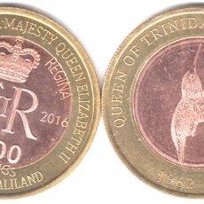 Monedas antiguas de África: SOMALILAND 2500 SHILLING 2016 TRINIDAD TOBAGO COLIBRÍ BIMETALICA 90 AÑOS DE NACIMIENTO REYNA ISABEL. Lote 243689490