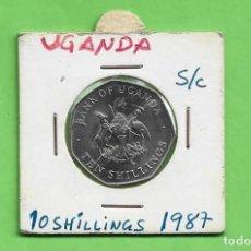 Monedas antiguas de África: UGANDA. 10 SHILLINGS 1987. ACERO BAÑADO EN NÍQUEL. KM#30. Lote 243909625