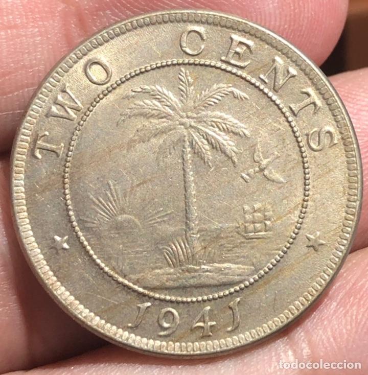 LIBERIA KM129. 2 CENT 1941 ELEFANTE (Numismática - Extranjeras - África)