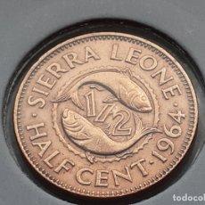Moedas antigas de África: SIERRA LEONA 1/2 CENTAVO 1964. Lote 244894590