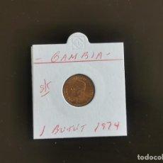Monedas antiguas de África: GAMBIA 1 BUTUT 1974 S/C KM=8. Lote 262116145