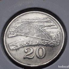Monedas antiguas de África: ZIMBABUE 20 CENTAVOS/CENTS 1997. Lote 245208840