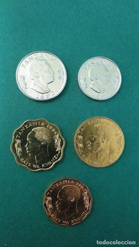 TANZANIA-LOTE 5 MONEDAS-SC (Numismática - Extranjeras - África)